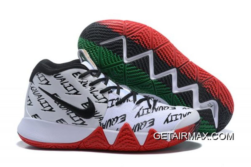 a5540a98a77b New Year Deals Nike Kyrie 4  BHM  Red Black And Green