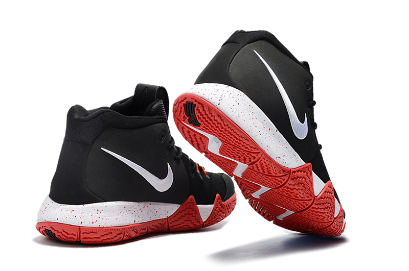 best sneakers dd8e8 68ce2 Nike Kyrie 4 Black Red-White New Year Deals