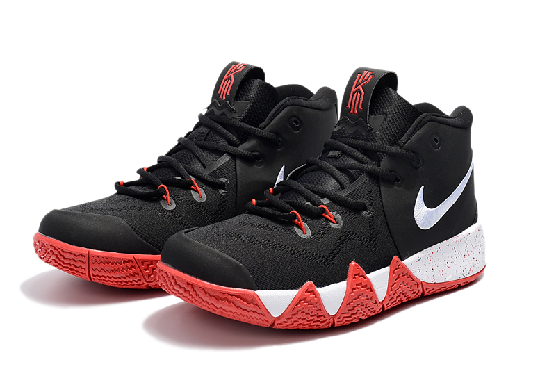64959cd6694b65 Nike Kyrie 4 Black Red-White New Year Deals