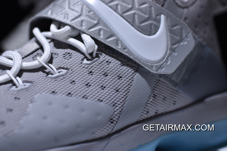 35df936c8f7 New Year Deals Nike LeBron 14  MAG  Matte Silver And White Glow ...