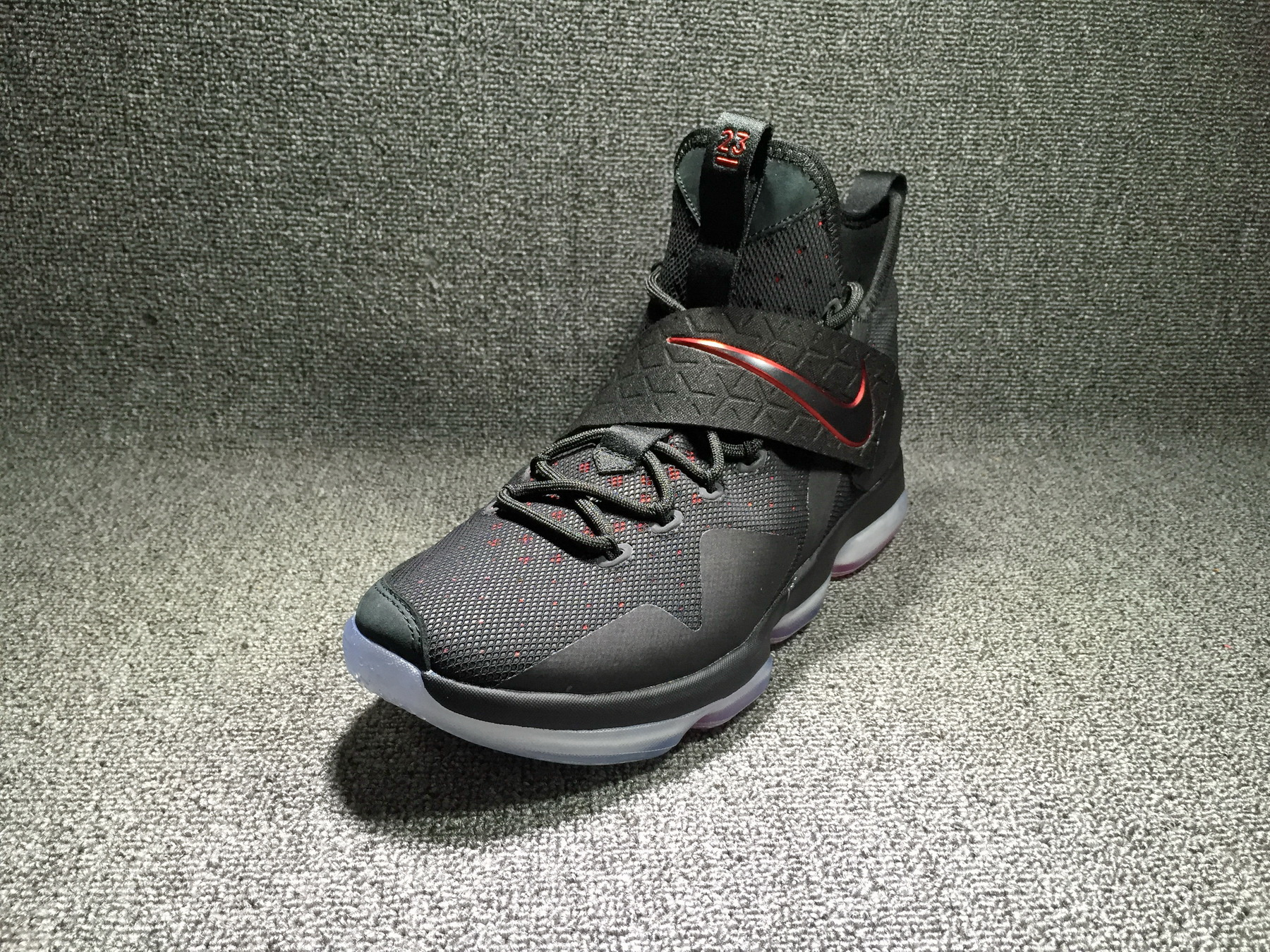 brand new 077d7 fd518 Nike LeBron 14  Bred  Black And Black-University Red Outlet