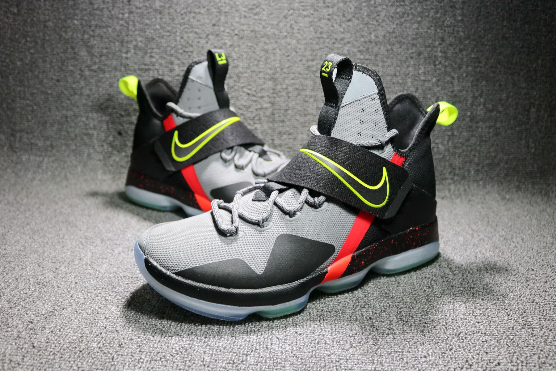 best service cd92d 22e6b Online Nike LeBron 14  Out Of Nowhere  Wolf Grey  Black – Volt