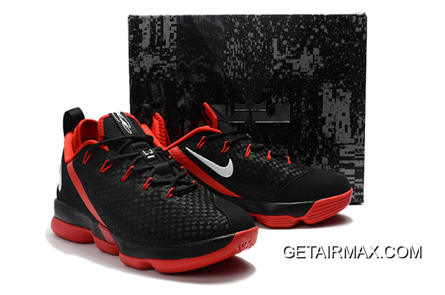 best sneakers b9933 04a67 Latest Nike LeBron 14 Low Black Red