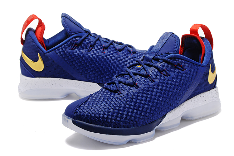 bd629a2ae84 New Release Nike LeBron 14 Low Midnight Navy And University Red-Metallic  Gold
