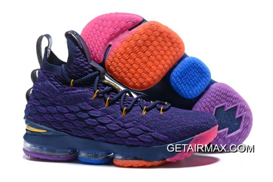 02b7f9fa5366 For Sale Nike LeBron 15 PE Purple Multi-Colour