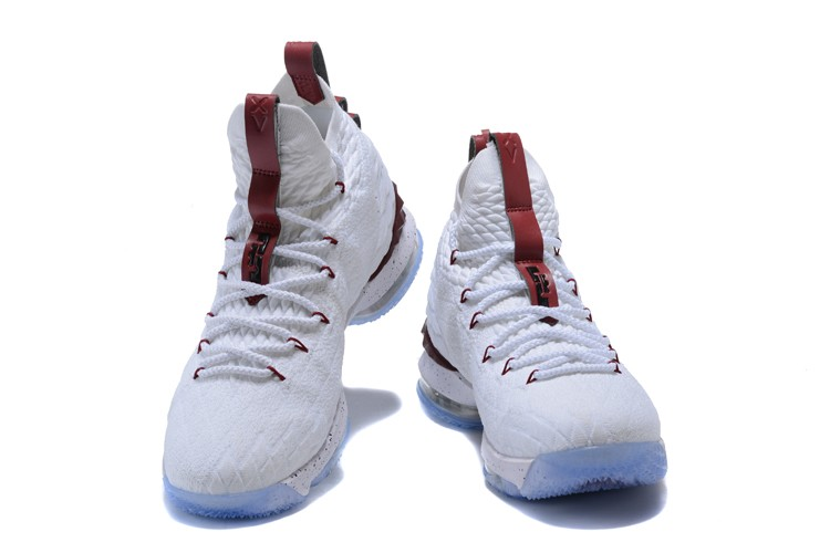 6514f276bf29 Discount Nike LeBron 15 White And Burgundy