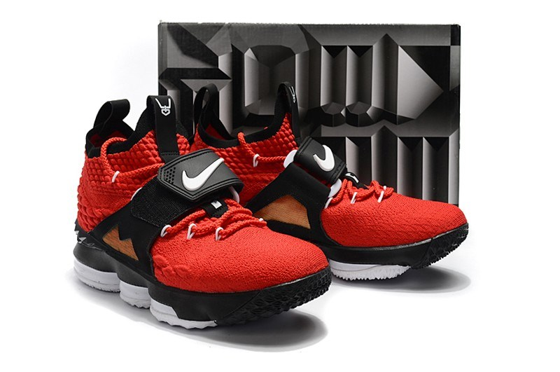"373d835ccaad Super Deals Nike LeBron 15 ""Diamond Turf"" Black And White In Challenge Red"