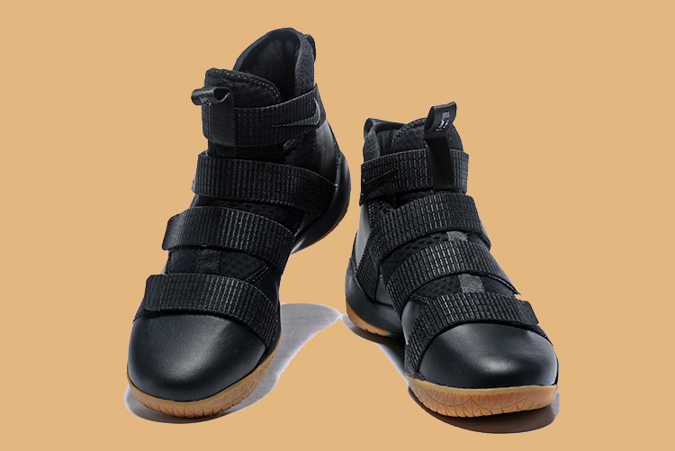 98b7ead5e7d1 Nike LeBron Soldier 11 Black Gum Latest
