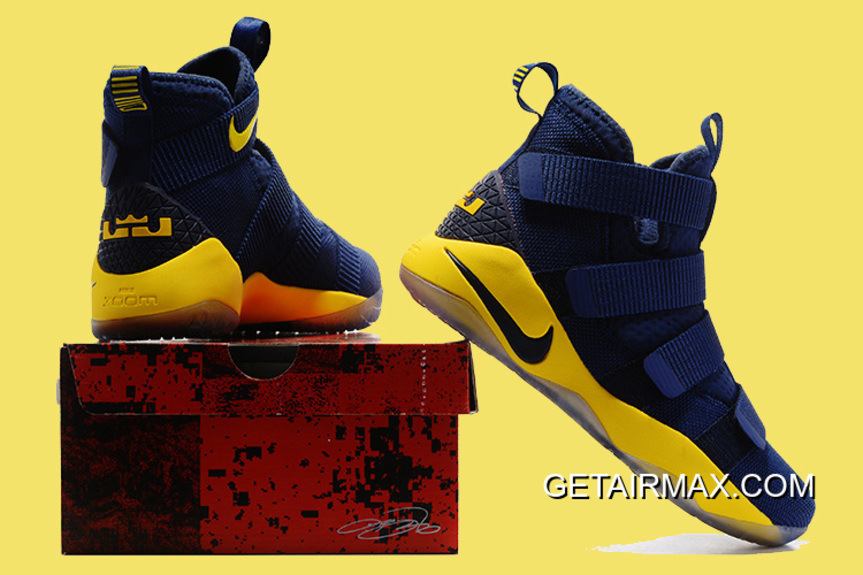 8177a03d0e4 Nike LeBron Soldier 11 Deep Blue And Yellow Super Deals
