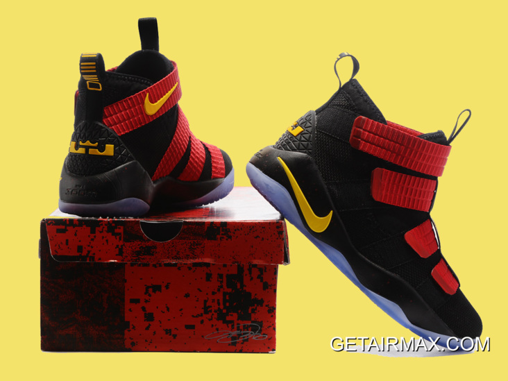 9d2dc89da314 Nike LeBron Soldier 11 Black And Red Gold Top Deals