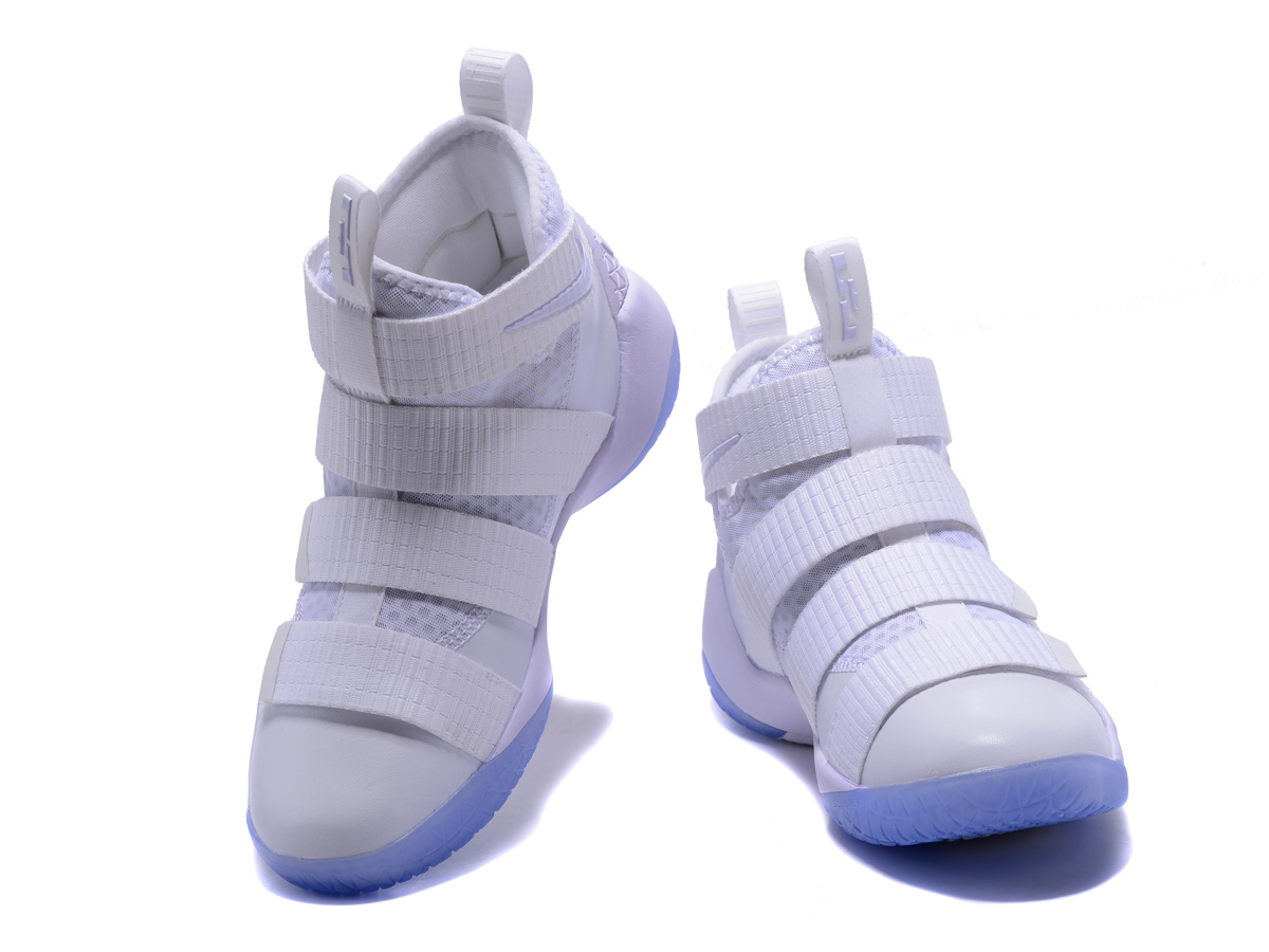 For Sale Nike LeBron Soldier 11 White And Black-Pure Platinum b30532c07