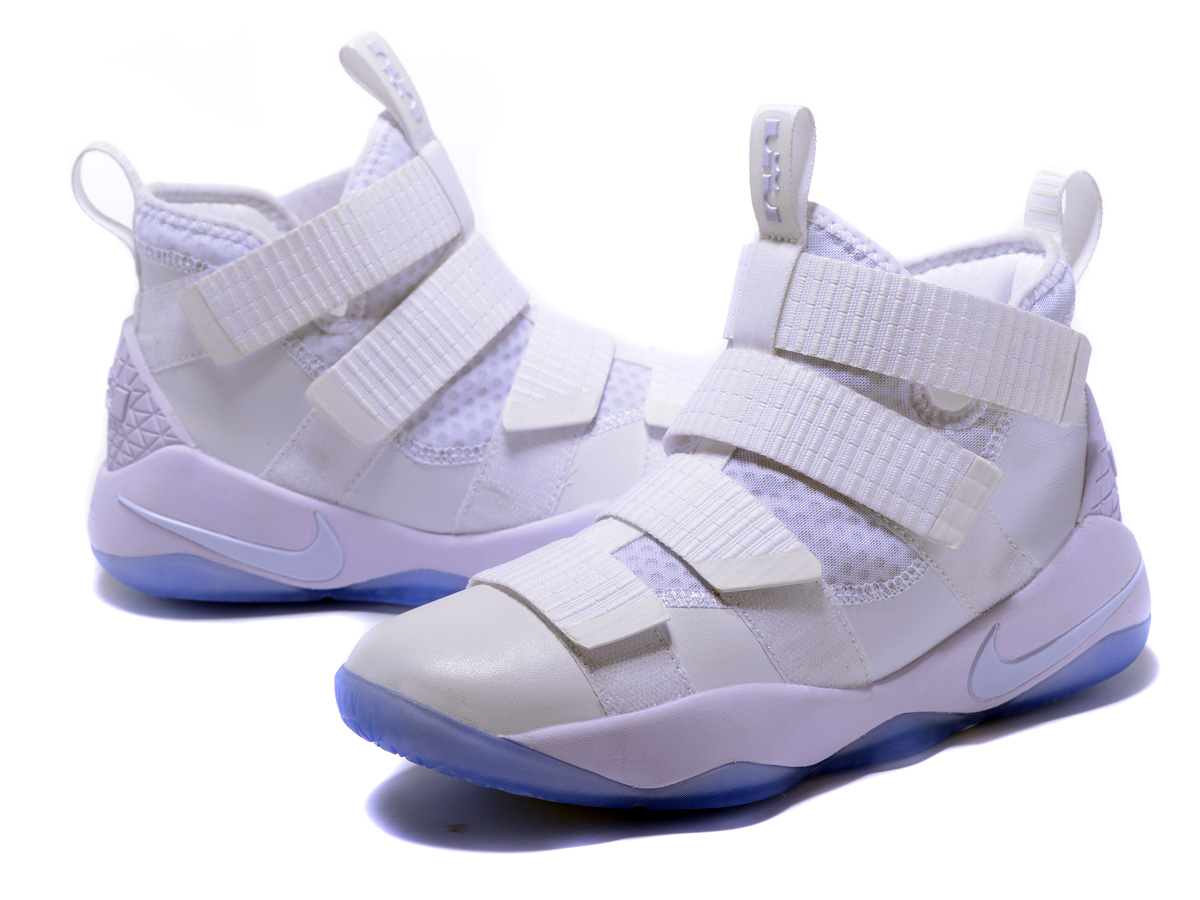21999cab3815 For Sale Nike LeBron Soldier 11 White And Black-Pure Platinum