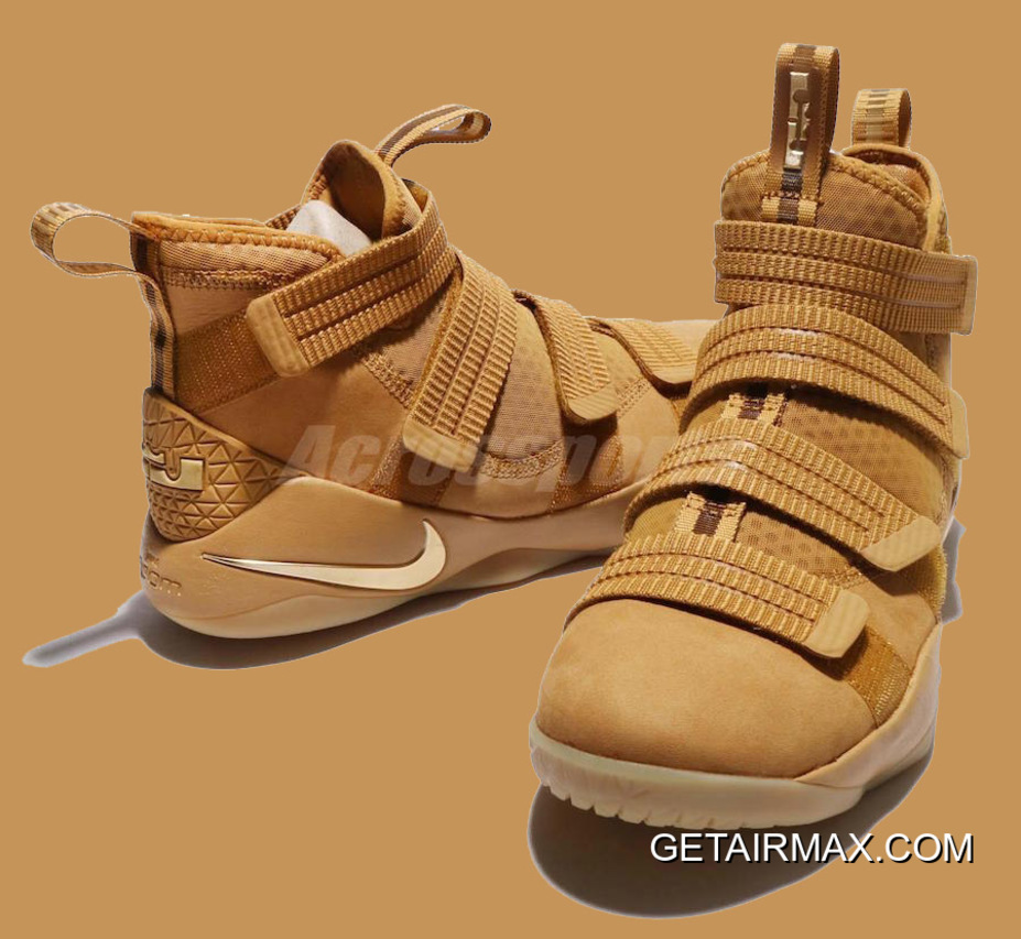 f231939e7d1c4 Nike LeBron Soldier 11 Wheat Gold And Metallic Gold Latest
