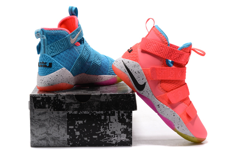 19d9b1b4a00 Nike LeBron Soldier 11 Markelle Fultz PE Pink Teal Free Shipping ...