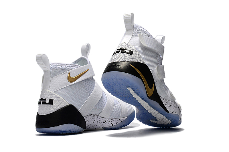 0342ec3f582 Nike LeBron Soldier 11  Court General  White And Metallic Gold-Black Best