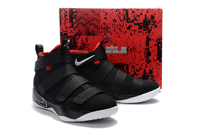 """free shipping 7f19f cada3 Nike LeBron Soldier 11 """"Bred"""" Black And White-University Red New Year Deals"""