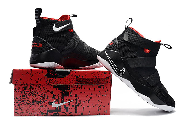 """free shipping cb678 d7697 Nike LeBron Soldier 11 """"Bred"""" Black And White-University Red New Year Deals"""
