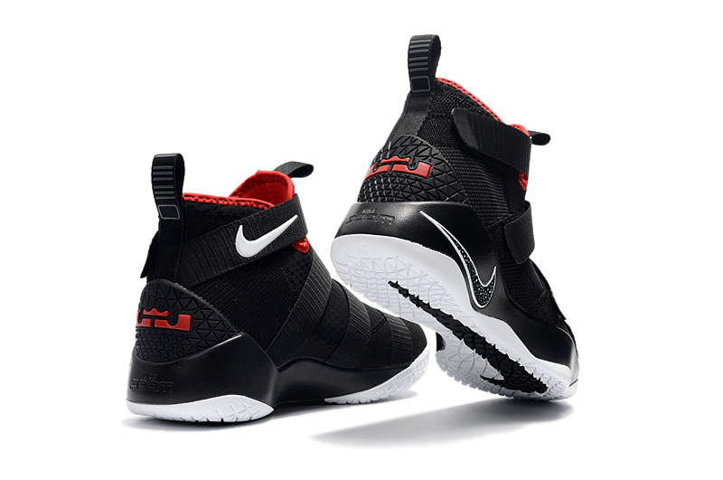 """free shipping 0fdbf 00d10 Nike LeBron Soldier 11 """"Bred"""" Black And White-University Red New Year Deals"""