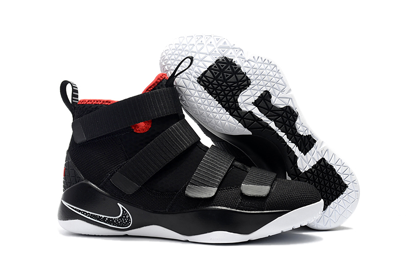 "free shipping 27056 77b19 Nike LeBron Soldier 11 ""Bred"" Black And White-University Red New Year Deals"