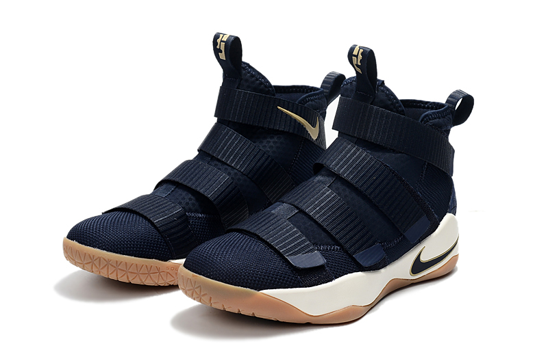 71237591a931 New Year Deals Nike LeBron Soldier 11  Cavs  Midnight Navy Metallic Gold