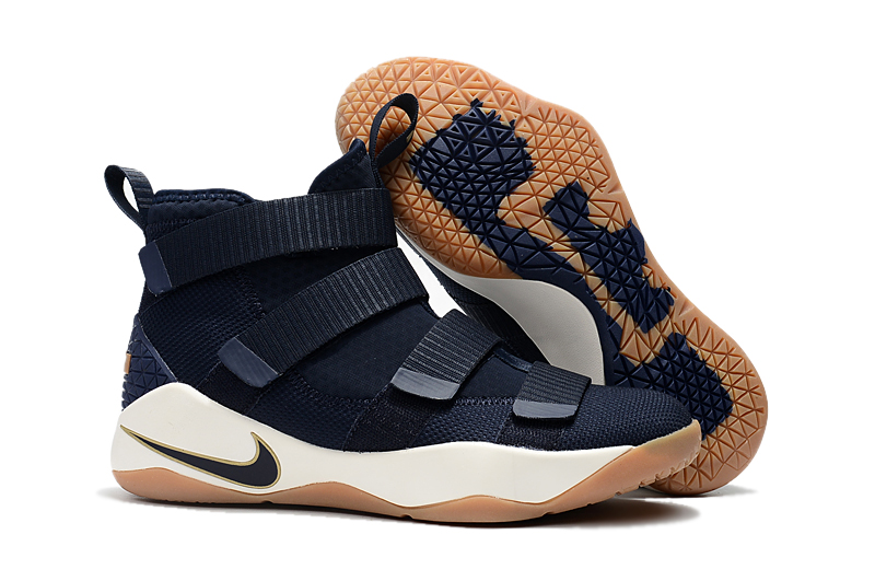 69034709d379 New Year Deals Nike LeBron Soldier 11 'Cavs' Midnight Navy Metallic Gold