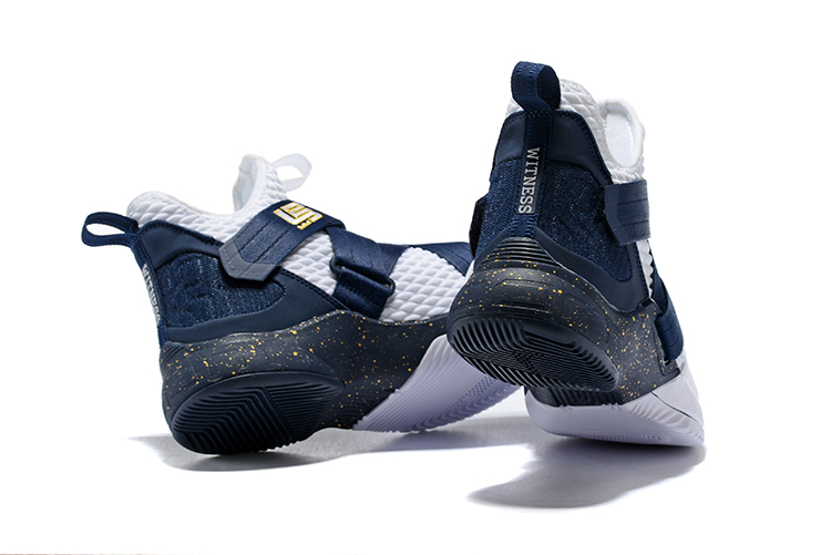 outlet store bea15 d89be Top Deals Nike LeBron Soldier 12 White Midnight Navy-Mineral Yellow