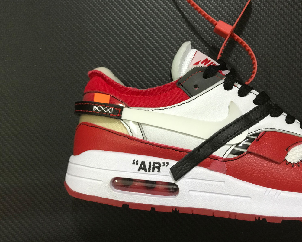 6cb8d7ab3b2b Virgil Abloh X BespokeIND X Off-White X Nike Air Max 1s Red New Year ...