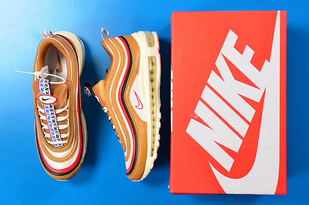 "online retailer b48a6 898c1 New Release Nike Air Max 97 ""Pull Tab"" Brown/Red-Navy-White, Price ..."