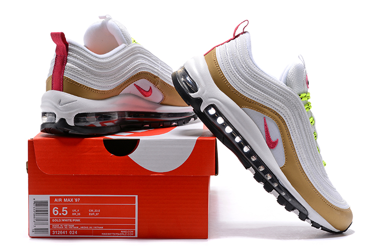 size 40 59804 1d646 Nike Air Max 97 White Tan New Release