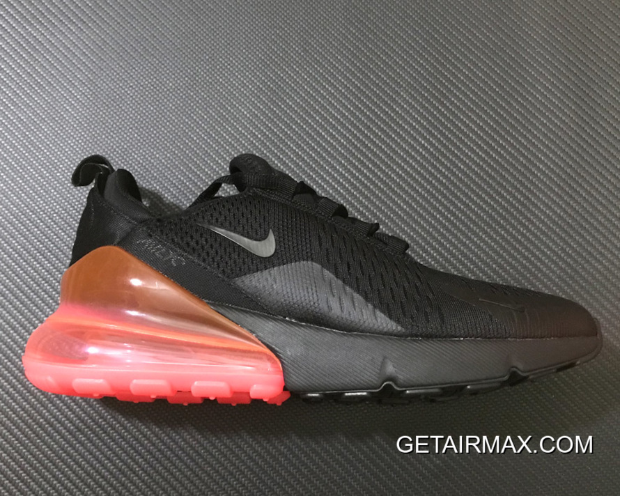 a7f86de80fb1 Nike Air Max 270 Black Black-Hot Punch For Sale