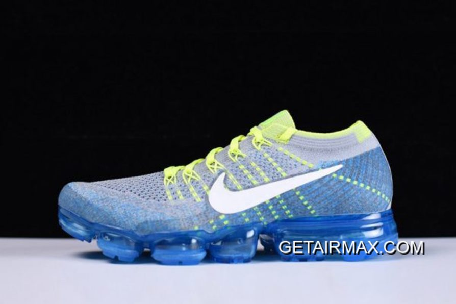 5f294bbbeff98 Nike Air VaporMax  Sprite  Wolf Grey And White And Chlorine Blue New Year  Deals