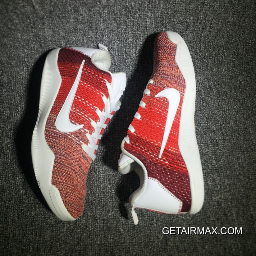 c46ec0b92a9d Nike Kobe 11 Elite Low  4KB  University Red And Summit White-Team ...